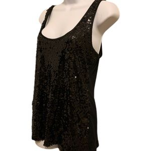 Express black sequin top